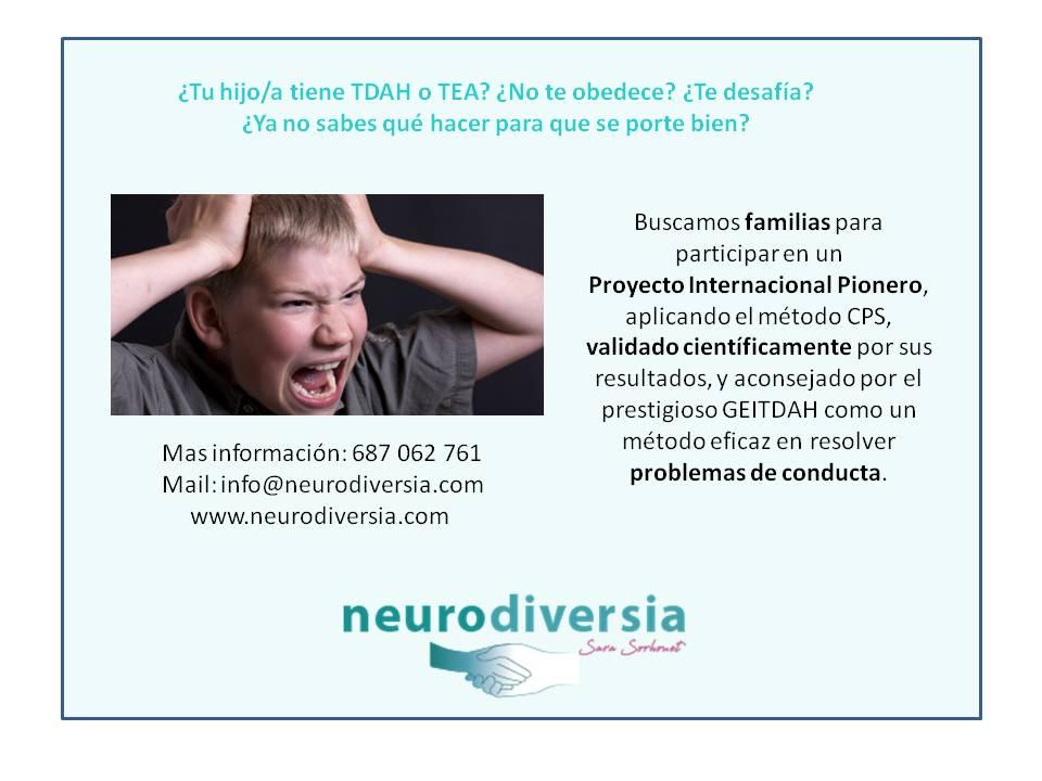proyecto pionero TDAH TEA Método CPS